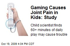 Gaming Causes Joint Pain in Kids: Study