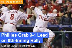 Phillies Grab 3-1 Lead on 9th-Inning Rally