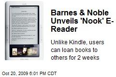 Barnes & Noble Unveils 'Nook' E-Reader