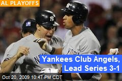 Yankees Club Angels, Lead Series 3-1