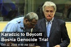 Karadzic to Boycott Bosnia Genocide Trial