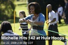 Michelle Hits 142 at Hula Hoops