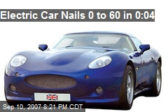 Electric Car Nails 0 to 60 in 0:04