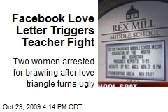 Facebook Love Letter Triggers Teacher Fight