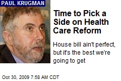 Time to Pick a Side on Health Care Reform