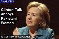 Clinton Talk Annoys Pakistani Women