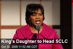 King's Daughter to Head SCLC