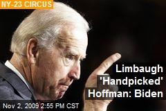 Limbaugh 'Handpicked' Hoffman: Biden