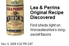 Lea & Perrins Original Recipe Discovered