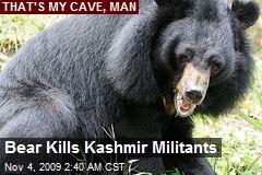 Bear Kills Kashmir Militants