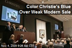 Color Christie's Blue Over Weak Modern Sale