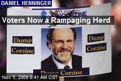 Voters Now a Rampaging Herd