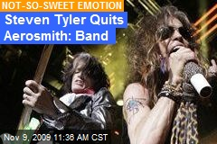 Steven Tyler Quits Aerosmith: Band
