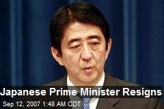 Japanese Prime Minister Resigns