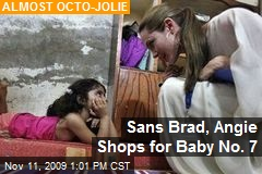 Sans Brad, Angie Shops for Baby No. 7