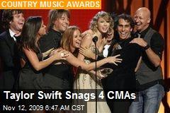 Taylor Swift Snags 4 CMAs
