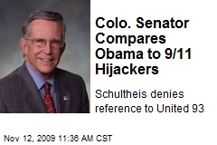 Colo. Senator Compares Obama to 9/11 Hijackers