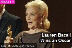 Lauren Bacall Wins an Oscar