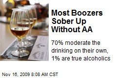 Most Boozers Sober Up Without AA