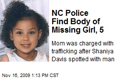 NC Police Find Body of Missing Girl, 5