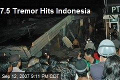 7.5 Tremor Hits Indonesia