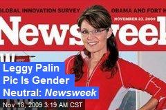 Leggy Palin Pic Is Gender Neutral: Newsweek