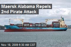 Maersk Alabama Repels 2nd Pirate Attack
