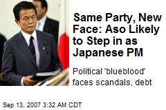 Same Party, New Face: Aso Likely to Step in as Japanese PM