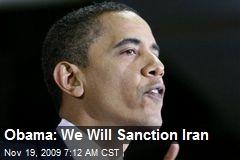 Obama: We Will Sanction Iran