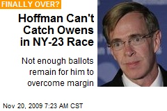 Hoffman Can't Catch Owens in NY-23 Race