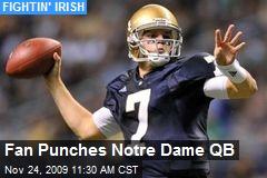Fan Punches Notre Dame QB