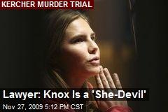Lawyer: Knox Is a 'She-Devil'