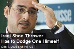 Iraqi Shoe Thrower Has to Dodge One Himself
