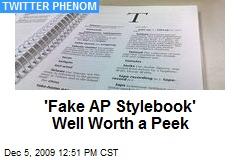 'Fake AP Stylebook' Well Worth a Peek