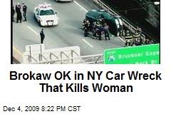 Brokaw OK in NY Car Wreck That Kills Woman