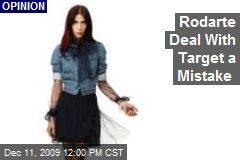 Rodarte Deal With Target a Mistake