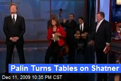 Palin Turns Tables on Shatner