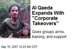 """Al Qaeda Expands With """"Corporate Takeovers"""""""