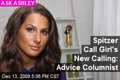 Spitzer Call Girl's New Calling: Advice Columnist