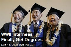 WWII Internees Finally Get Degrees