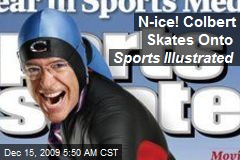 N-ice! Colbert Skates Onto Sports Illustrated