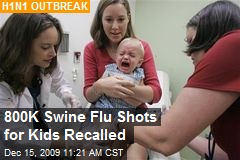 800K Swine Flu Shots for Kids Recalled