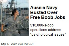 Aussie Navy Busted Over Free Boob Jobs