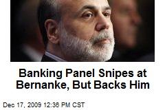 Banking Panel Snipes at Bernanke, But Backs Him