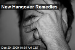 New Hangover Remedies
