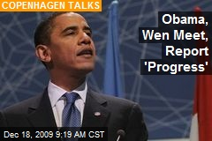 Obama, Wen Meet, Report 'Progress'