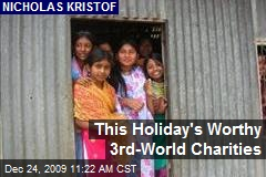 This Holiday's Worthy 3rd-World Charities