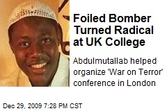 Foiled Bomber Turned Radical at UK College