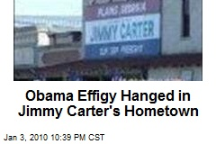 Obama Effigy Hanged in Jimmy Carter's Hometown