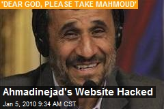 Ahmadinejad's Website Hacked